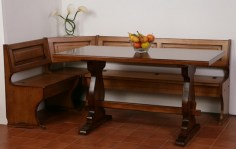 Complete Corner Bench and Fratino Table